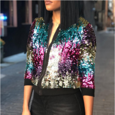 Colorful Sequin Jacket TR-706