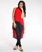 Sleeveless Casual High Low Dress YM-9094