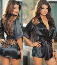 Black Belts Nightdress Sleepwear YQ-901