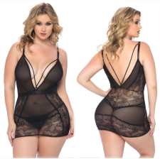 Sexy Passion Lingerie Deep V Nightdress  YQ-354