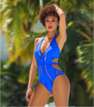 Hollow Out Deep V Bodysuits Swimsuits OD-8128