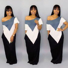 Plus Size Short Sleeve Loose Maxi Dresses TR-930