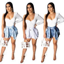 Casual High Waist Short Jeans Denim Shorts OSM-3268