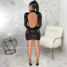 Sexy Sequin Backless Hollow Out Party Club Dresses SMR-9375