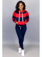 Plus Size Tracksuit Hoodies Long Pants Two Piece Sets MTY-6228