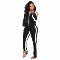 Casual Tracksuit Long Sleeve Two Piece Suits IV-8055-1