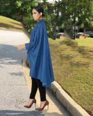 Casual Batwing Sleeves High Low Loose Blouse Tops LDS-3182