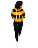 Plus Size Tracksuit Hoodies Long Pants Two Piece Sets OD-8313