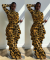 Plus Size Printed Ruffles Long Sleeve Wide Leg Jumpsuits SC-635