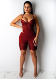 Sexy Spaghetti Strap Bodycon Lace Playsuits OSM-5250-1