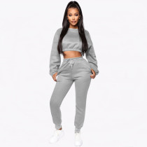 Casual Sweatshirt Long Pants Two Piece Sets YMT-6113