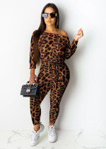 Sexy Leopard Print Sashes One Piece Jumpsuits MOY-5127