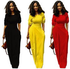 Women Pocket Maxi Dress TR-703
