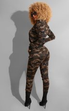 Camouflage Print Holes Casual Two Piece Sets MYP-8898