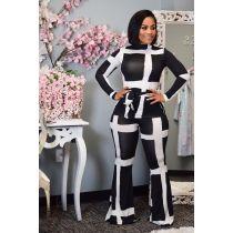 Fashion Printed Long Sleeve Flare Pant Sets HM-6178