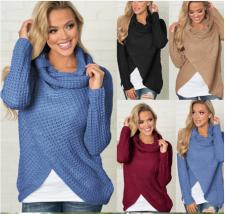 Women Long Sleeves Knitting Sweater