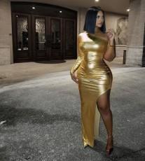 Sexy One Shoulder Irregular Long Club Dresses MK-2046