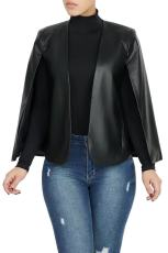PU Leather Cloak Sleeves Jacket Coat OD-8330