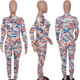 Sexy Printed Long Sleeves Skinny Jumpsuits TK-6057