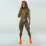 Casual Tracksuit Hooded Two Piece Pants Set NM-8089