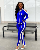 Casual Tracksuit Cold Shoulder Two Piece Sets YNB-7050