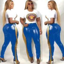 PU Leather Tassel Skinny Long Pants SMR-9450