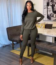 Casual Sports Long Sleeves Two Piece Pant Sets TR-997