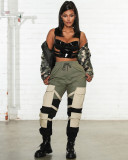 Casual Trousers Pocket Long Cargo Pants YH-5134