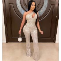 Sexy Sequin Off Shoulder Club Party Jumpsuits OSM-4093
