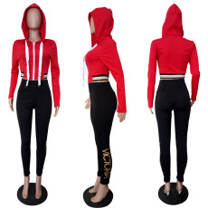 Casual Zipper Hoodies Long Pants 2 Piece Sets LSL-8028