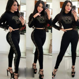 Casual Long Sleeve Two Piece Pants Sets LQ-5817