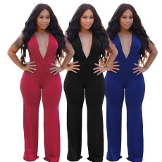 Sexy Deep-V Bodycon Jumpsuit SMR-9543