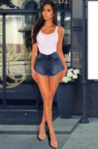 Denim High Waist Slim Fit Jeans Shorts LX-5021