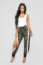Camouflage Printed High Waist Button Loose Pants BGN-039