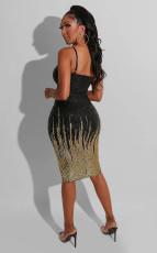 Sexy Sequin Spaghetti Strap Bodycon Dress OSM-5312