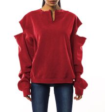Casual Loose Hollow Out Sweatshirt Tops BS-1004