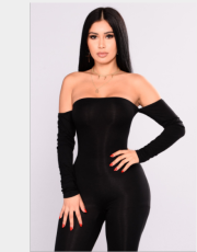 Sexy Off The Shoulder Full Sleeve Bodycon Jumpsuits YNB-7051