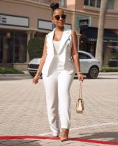 White OL Coat + Pant Sets 2 Piece AIL-032
