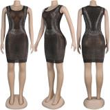 Black Rhinestone Club Dress NY-8885