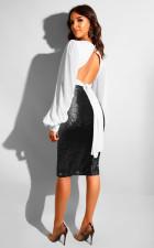 Sexy Seuqined Bodycon Knee Length Skirt NY-8699