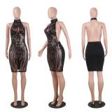 Sexy Black See Through Club Dress NY-8380