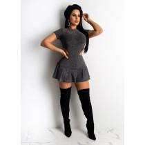 Sexy Bodysuit + Mini Skirt 2 Piece Sets  CHY-1210