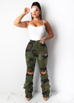Classic Heap Camouflage Hole Trousers LSD-8632