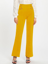 Elegant High Waist Back Zipper Long Pants YS-8180