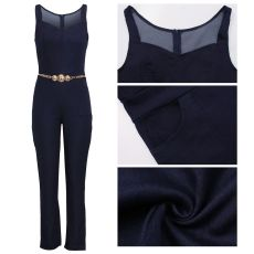 Sexy Fashion Suspenders Stitching Casual Jumpsuit SMR-9578