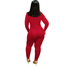 Solid Long Sleeve Bodycon One Piece Jumpsuit SFY-066