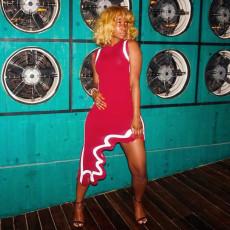Sexy Sleeveless Irregular Midi Dress SFY-008