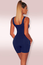 Solid Sleeveless Bodycon Playsuits MZ-2408
