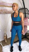 Geometric Print Yoga Ftiness Two Piece Pants Sets SMD-5004