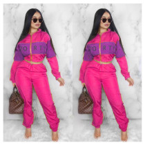 Casual Patchwork Tracksuit Two Piece Sets SHD-9052